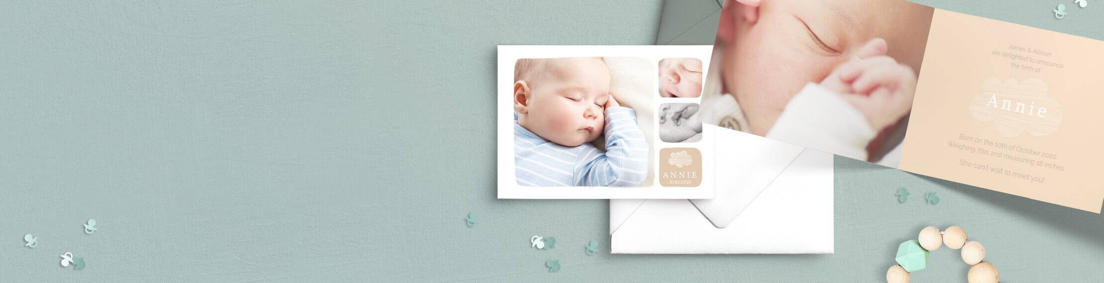Birth announcement cards for boys