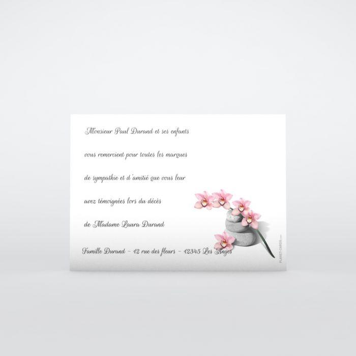Remerciement Deces Orchidee