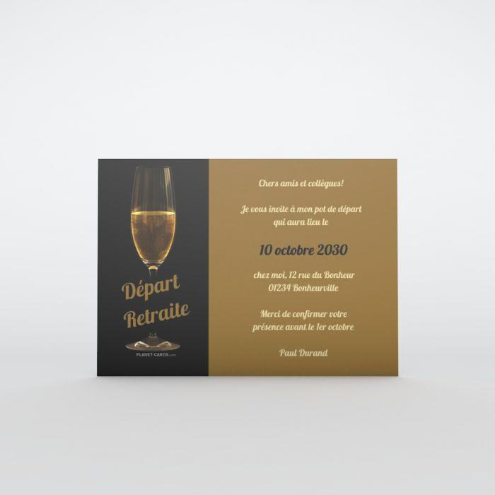 Invitation Depart A La Retraite Carte Retraite
