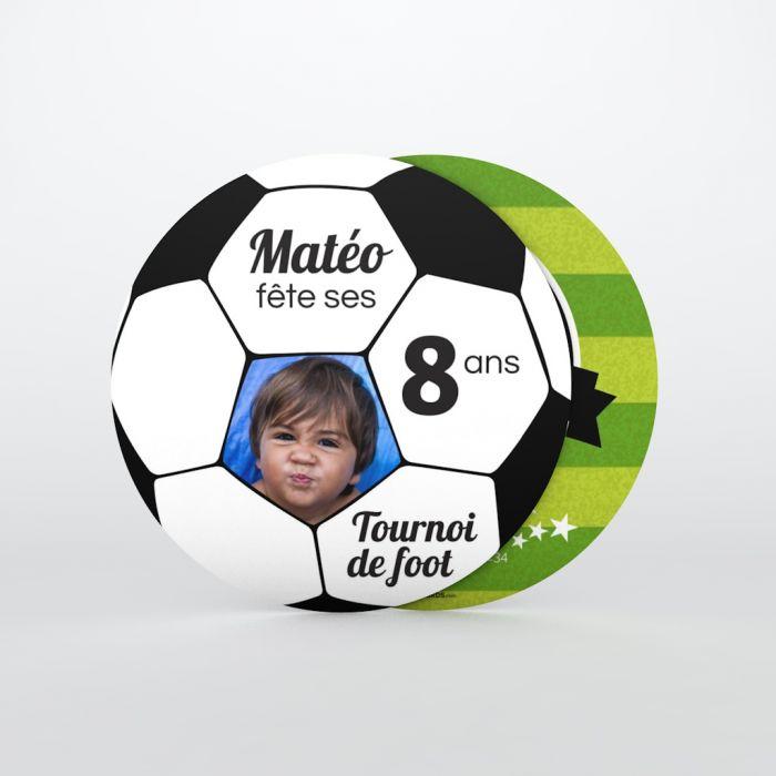 Invitation Anniversaire Enfant Tournoi De Foot Planet Cards