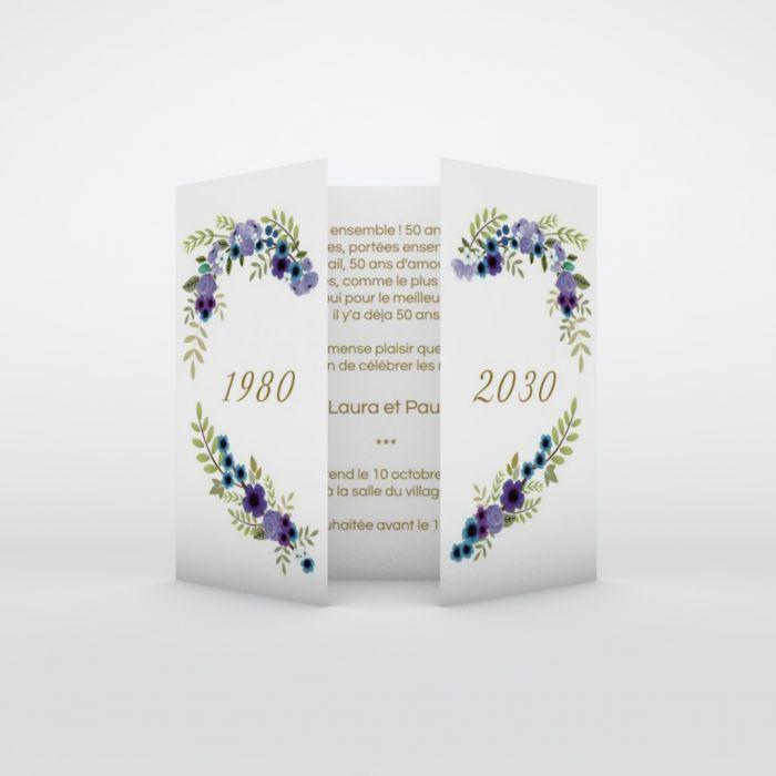 Carte D Invitation Anniversaire De Mariage Planet Cards