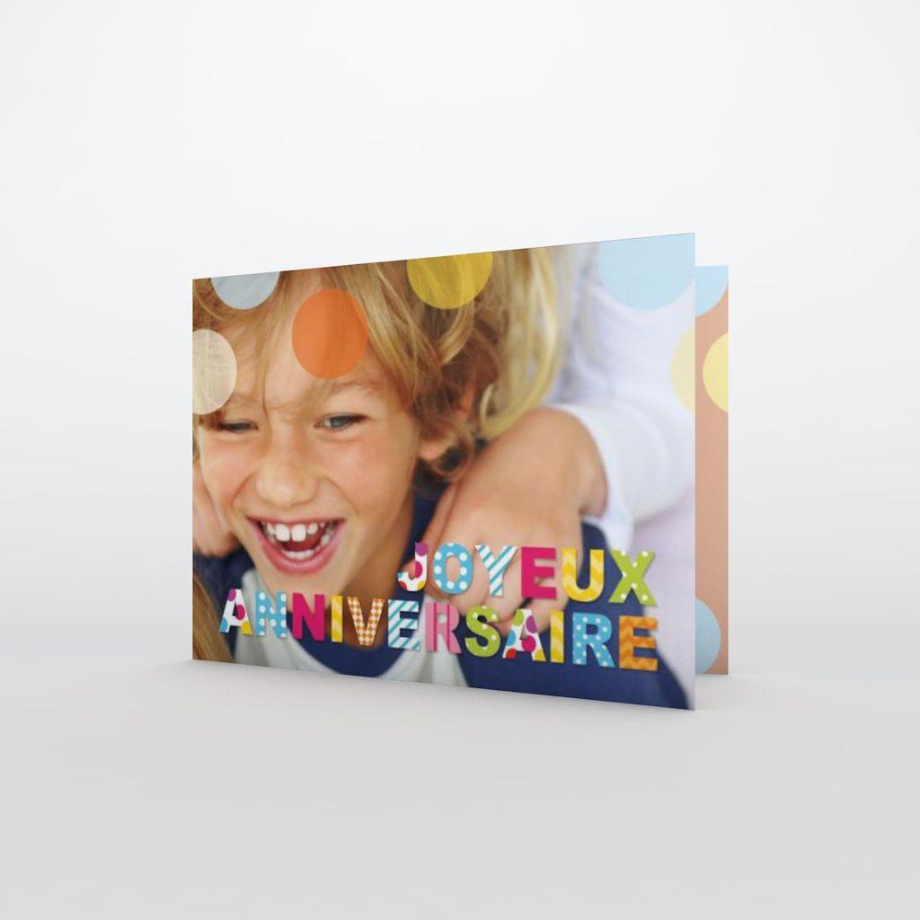 Carte Anniversaire Enfant Confettis Planet Cards