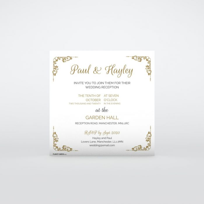 Evening Wedding Invitations Planet Cards Co Uk