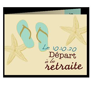Cartes d'Invitations départ à la retraite Tongs