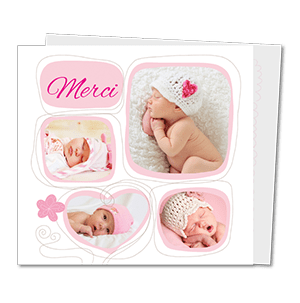 Cartes de remerciement naissance moderne delicat croquis