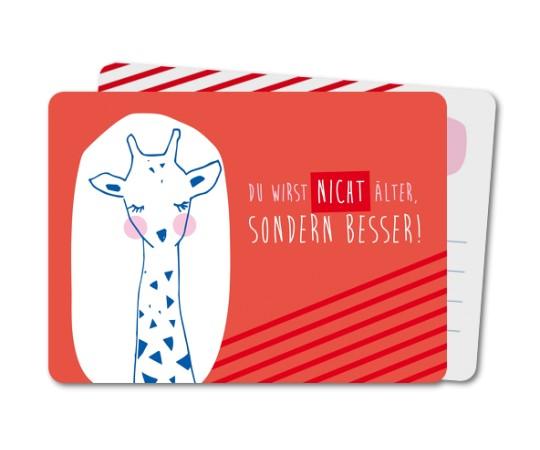 geburtstag geburtstagskarten erwachsene entzuckte giraffe rounded