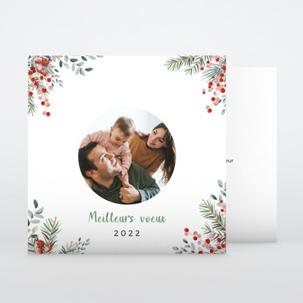 Carte de voeux Fleurs de Noël