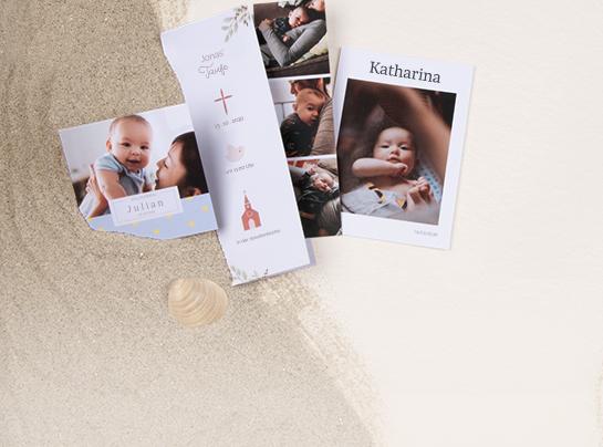 Geburtskarten und Taufkarten