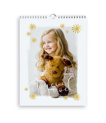 Calendrier photo | Flocons de Noël