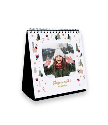 Calendrier photo à poser | Animaux de Noël et Photo