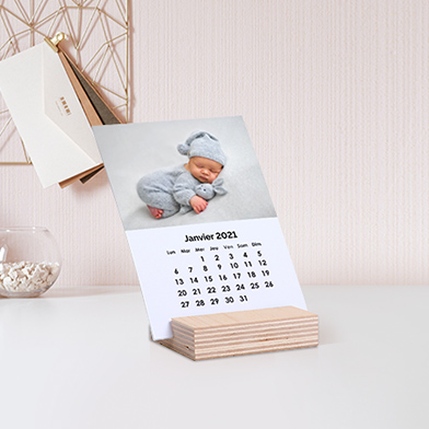Calendrier Photo Support Bois
