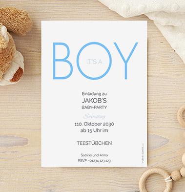 Einladungen Babyparty